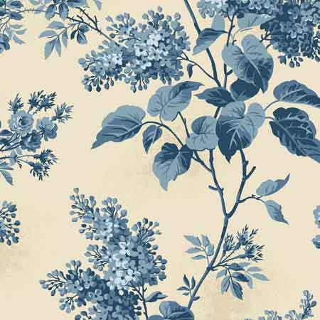 Andover Blue Sky Fabrics by Edyta Sitar for Laundry Basket Quilts - A-8505-L Lilacs Beach House