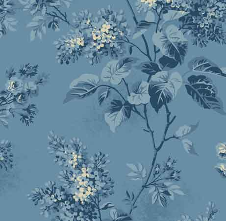 Andover Blue Sky Fabrics by Edyta Sitar for Laundry Basket Quilts - A-8505-W Lilacs Skys the limit