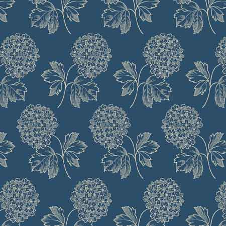 Andover Blue Sky Fabrics by Edyta Sitar for Laundry Basket Quilts - A-8506-B Cloud Nine Fullmoon