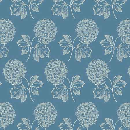 Andover Blue Sky Fabrics by Edyta Sitar for Laundry Basket Quilts - A-8506-W Cloud Nine Bluebird
