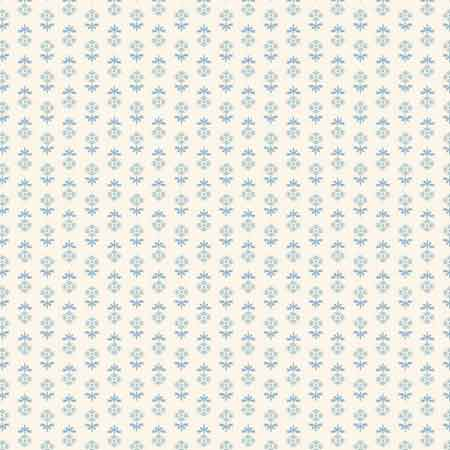 Andover Blue Sky Fabrics by Edyta Sitar for Laundry Basket Quilts - A-8512-W Midnight Bloom Cirrus