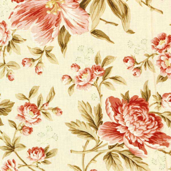 Andover Crystal Farm Fabrics by Edyta Sitar for Laundry Basket Quilts - A-8614-L Rose Wheat