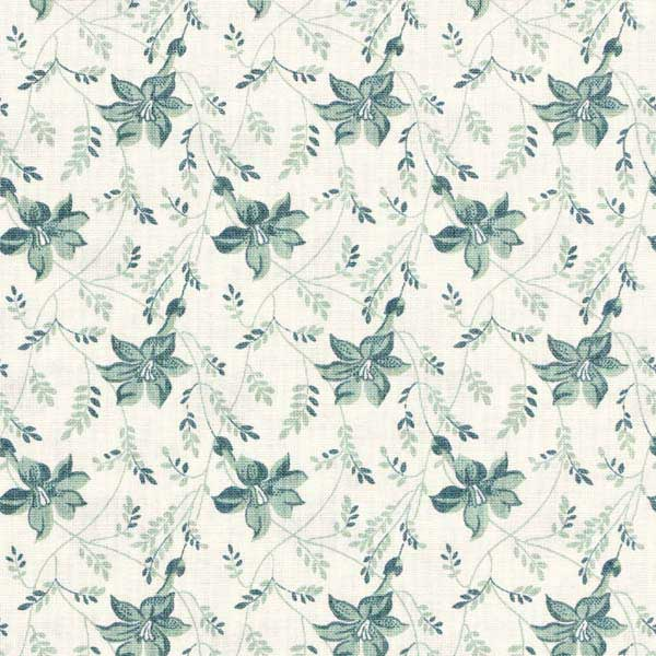 Andover Sequoia Fabrics by Edyta Sitar for Laundry Basket Quilts - ANDOVER-SEQUOIA-BUDS-AND-VINE-8753-LT-TOUCH-OF-BLUE