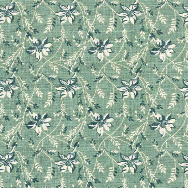 Andover Sequoia Fabrics by Edyta Sitar for Laundry Basket Quilts - ANDOVER-SEQUOIA-BUDS-AND-VINE-8753-T-BLUE-SPRUCE