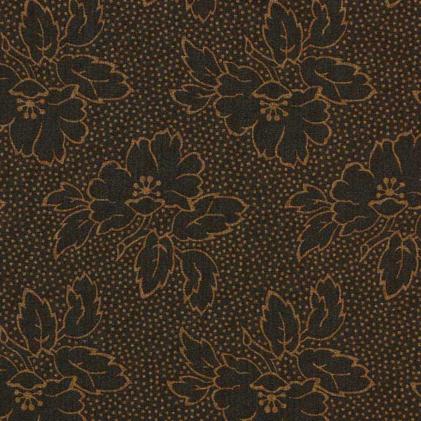 Andover Sequoia Fabrics by Edyta Sitar for Laundry Basket Quilts - ANDOVER-SEQUOIA-FLORAL-8752-N-BLACK-BEAR