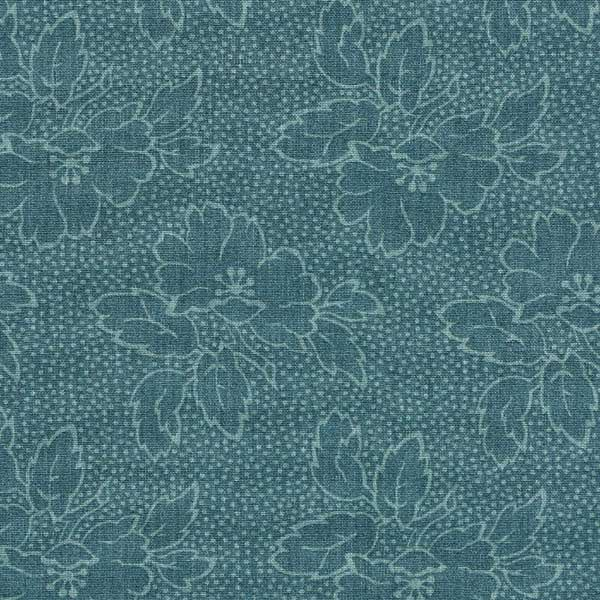 Andover Sequoia Fabrics by Edyta Sitar for Laundry Basket Quilts - ANDOVER-SEQUOIA-FLORAL-8752-T-RIVER-BLUE