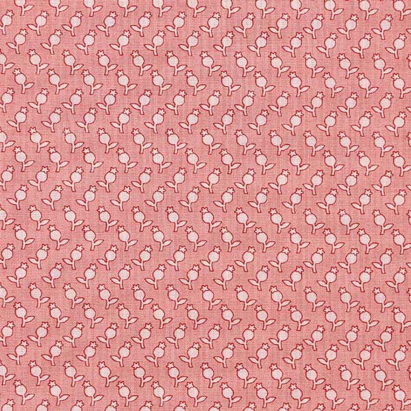 Andover Sequoia Fabrics by Edyta Sitar for Laundry Basket Quilts - ANDOVER-SEQUOIA-TULIPS-8757-E-BERRY