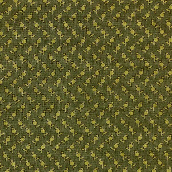 Andover Sequoia Fabrics by Edyta Sitar for Laundry Basket Quilts - ANDOVER-SEQUOIA-TULIPS-8757-G-FOREST-GREEN-S6