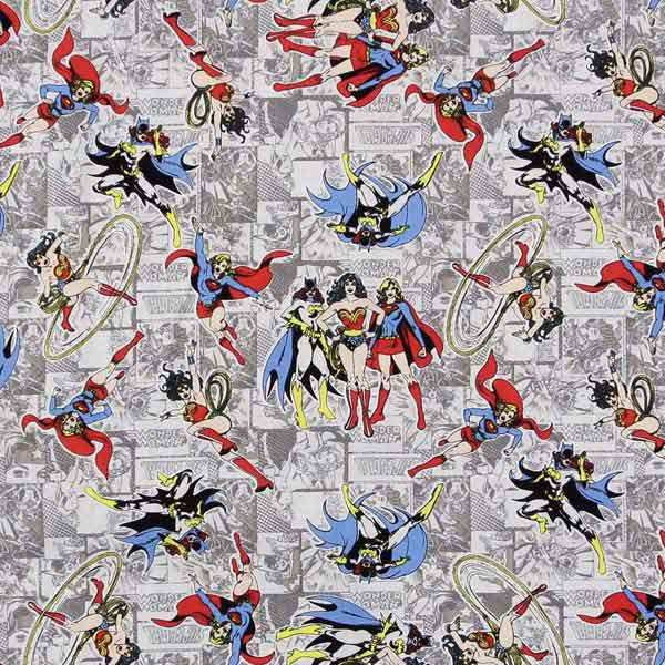 Super Girl patchwork fabric CAMELOT_GIRL_POWER_ii_23400407-03