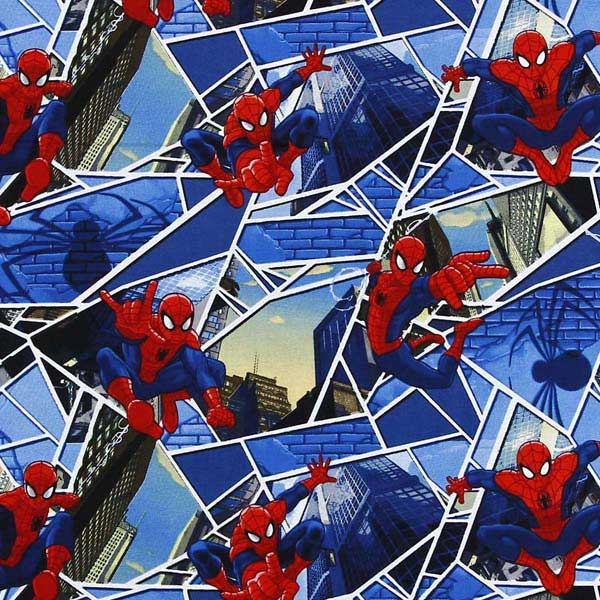 Spider Man patchwork fabric NUTEX_MARVEL_SPIDERMAN_PANES_CP52280