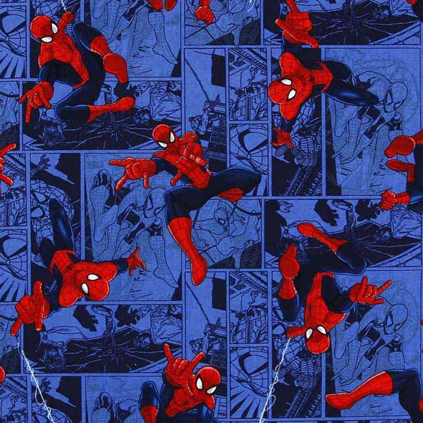 Spider Man patchwork fabric NUTEX_MARVEL_SPIDERMAN_TOSS_CP53380