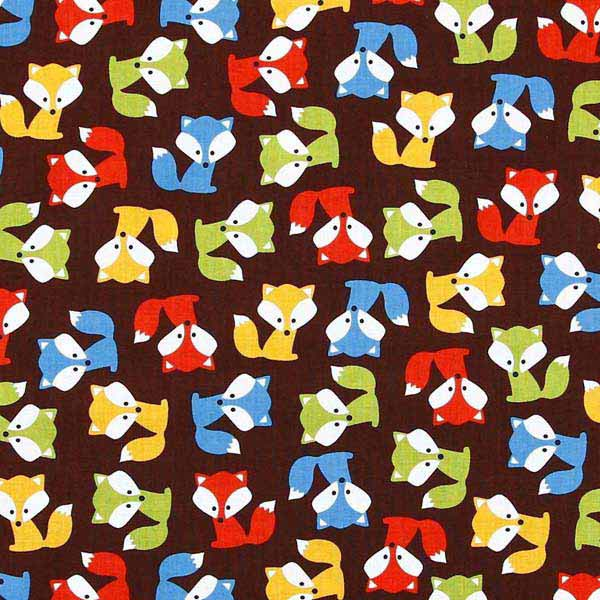 Childrens fox patchwork fabric