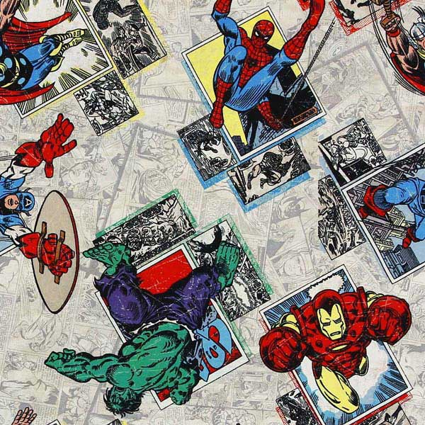 MARVEL COMICS AVENGERS PATCHWORK FABRIC NUTEX_MARVEL_AVENGERS_CP53385