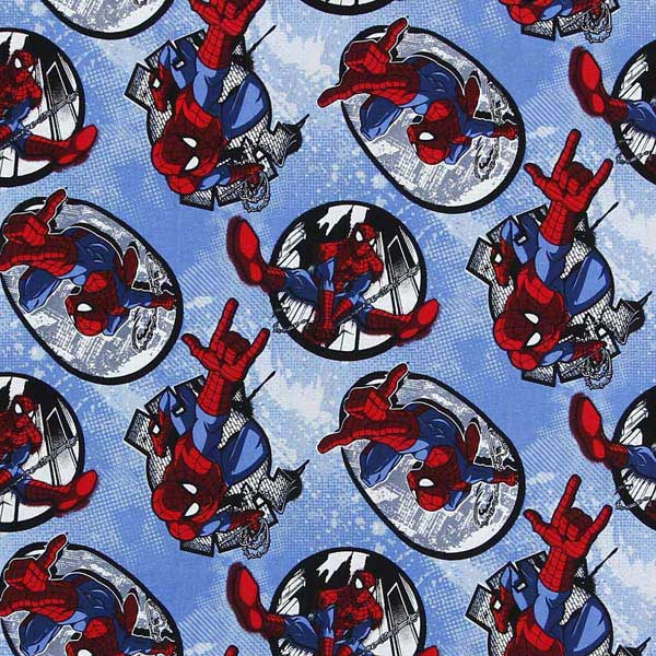 Spider Man patchwork fabric NUTEX_MARVEL_SPIDERMAN_CP59503