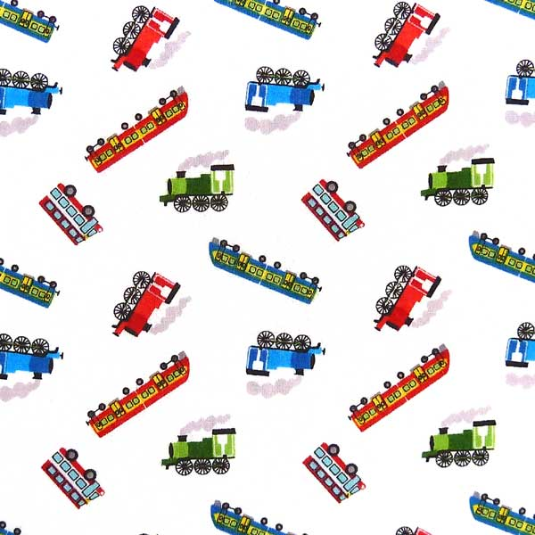 LEWIS-AND-IRENE-SMALL-THINGS-ON-THE-MOVE-SM14-1 WHITE BACKGROUND TRAIN FABRIC