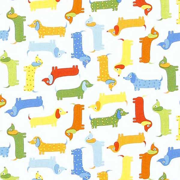 fun dog fabric for patchwork