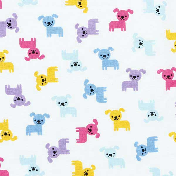 small dog fabric for patchwork ROBERT_KAUFMAN_URBAN_ZOOLOGIE_MINIS_AAK-16534-192_SPRING