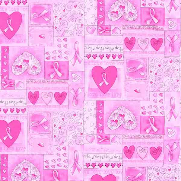 love hearts fabric for patchwork