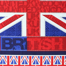 union jack flag fabric for patchwork