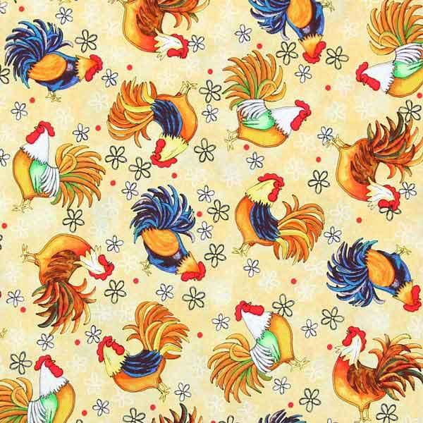 chicken fabric for patchwork