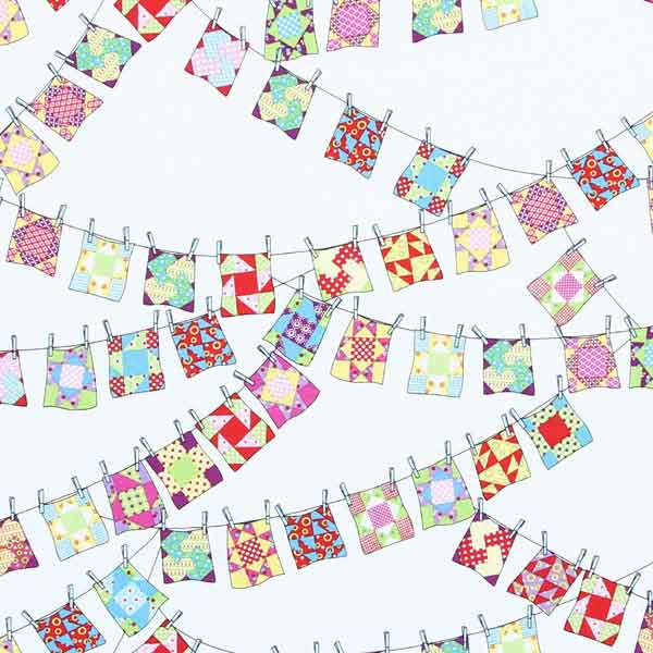 quilt block bunting fabric for patchwork
