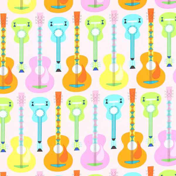 guitar patchwork quilt fabric ROBERT_KAUFMAN_JAZZ_BETWEEN_FRIENDS_ASD-14126-287_SWEET