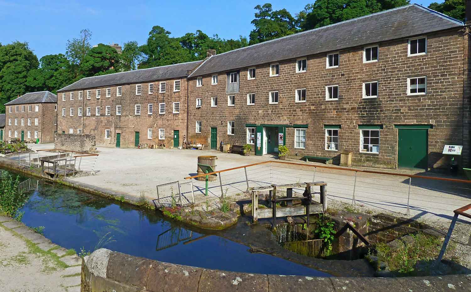Exterior view of Quiltessential at Cromford Mill Derbyshire