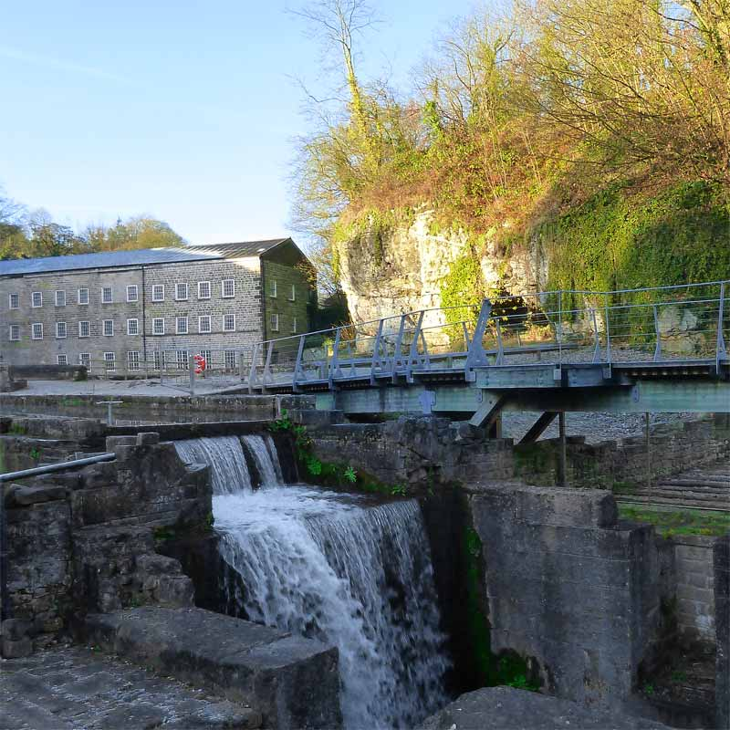 Cromford Mill Waterfall 141205