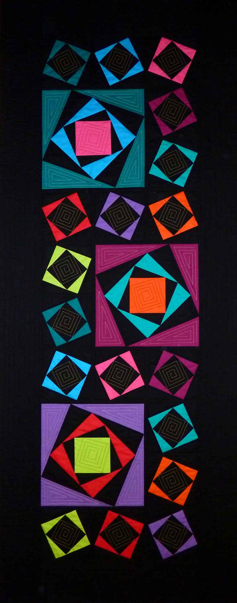 Logorhythmic Quilt by Ann and Darren Mayner