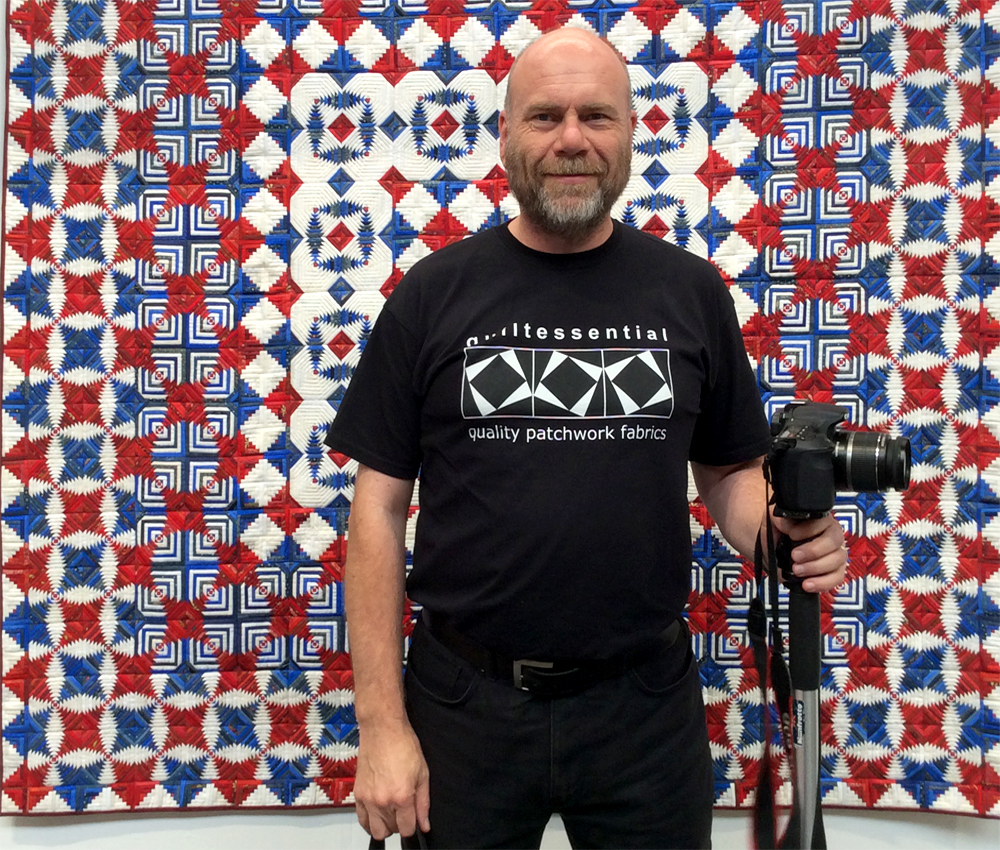 Darren Mayner of Quiltessential at The Festival of Quilts Birmingham