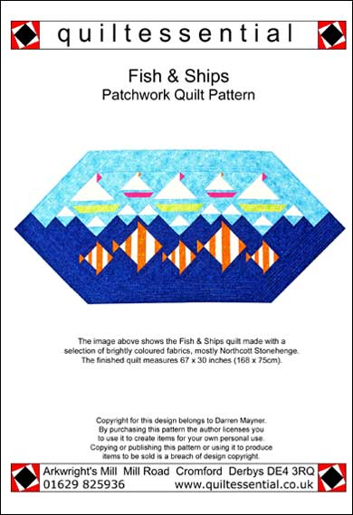 Quiltessential Fish & Ships patchwork quilt pattern