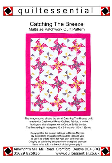 Quiltessential Catching The Breeze patchwork quilt pattern