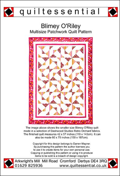 Quiltessential Blimey O'Riley patchwork quilt pattern