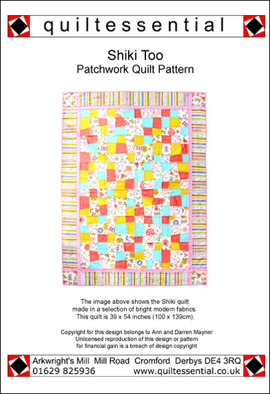 Shiki Too patchwork quilt pattern