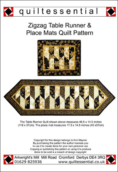 Quiltessential maple Leaf patchwork quilt pattern
