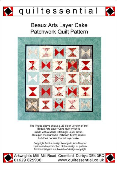 Beaux Arts Layer Cake patchwork quilt pattern