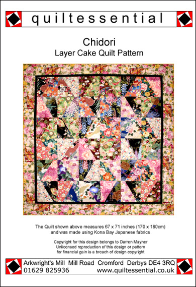Chidori Layer Cake patchwork quilt pattern