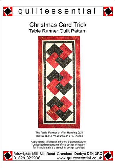 Christmas Card Trick patchwork quilt pattern