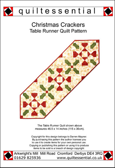 Christmas Crackers Table Runner patchwork quilt pattern