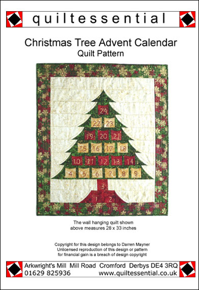Christmas Advent Calendar patchwork quilt pattern