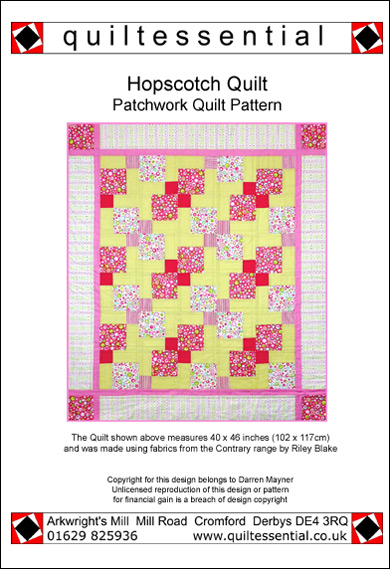 Hopscotch patchwork quilt pattern