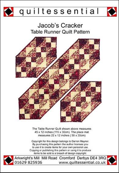 Jacobs Cracker Table Runner patchwork quilt pattern