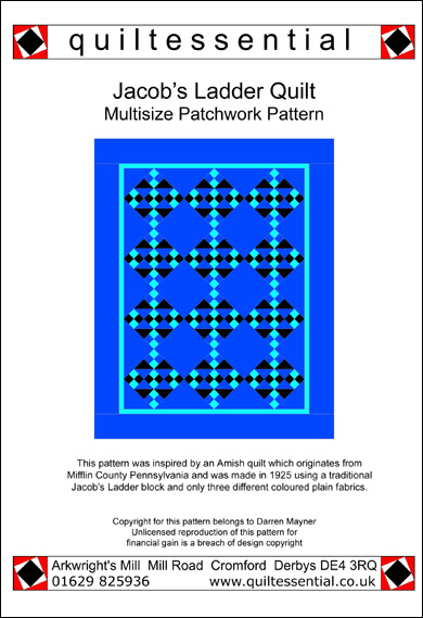 Jacobs Ladder patchwork quilt pattern