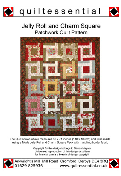 Jelly Roll & Charm Square patchwork quilt pattern