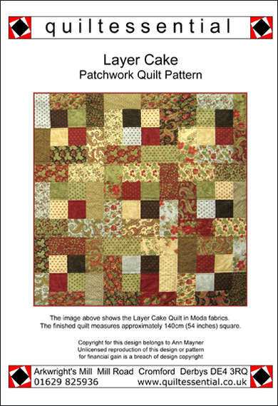 Layer Cake patchwork quilt pattern