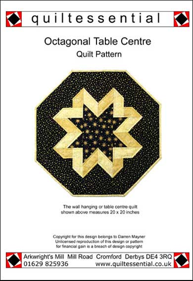 Octagonal Table Centre patchwork quilt pattern
