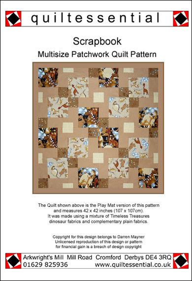 Scrapbook patchwork quilt pattern