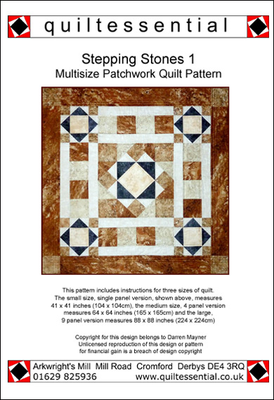 Stepping Stones 1 patchwork quilt pattern