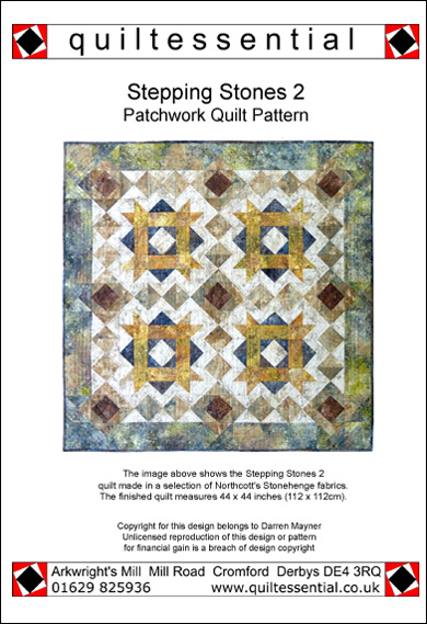 Stepping Stones 2 patchwork quilt pattern