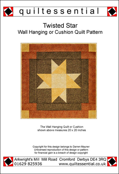 Twisted Star patchwork quilt pattern